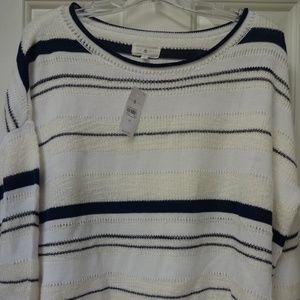 Lou & Grey LOFT Stripemix Sweater NWT!